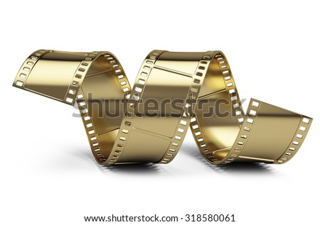 Golden Film - stock photo