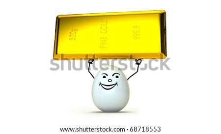Golden fortune - stock photo