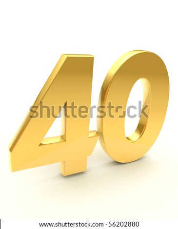 golden forty - stock photo