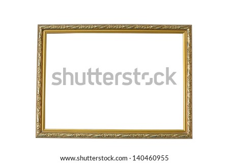 Golden frame. - stock photo