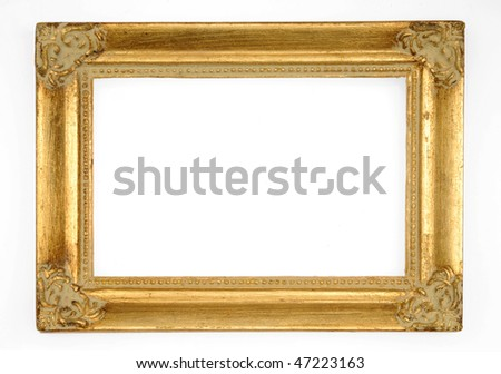 Golden Frame - stock photo