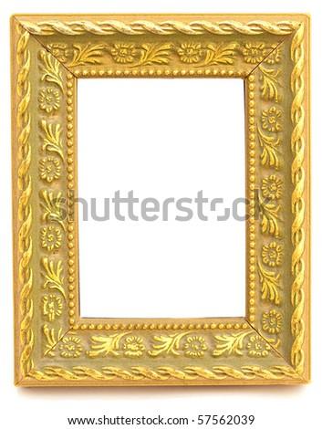 golden frame - stock photo