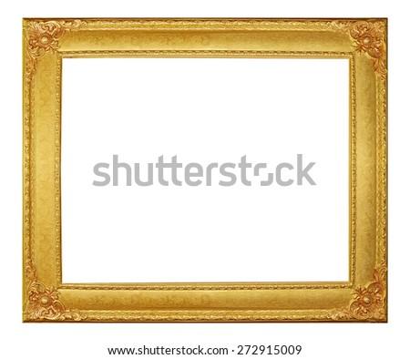 Golden frame modern vintage. - stock photo