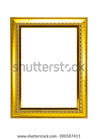 golden frame on isolated background