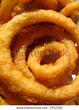 Golden Fried Onion Rings - stock photo