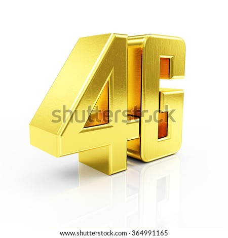 Golden 4G Symbol of Standard Wireless Communication isolated on white reflective background - stock photo