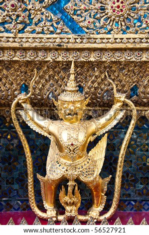 Golden Garuda, The Grand Palace Bangkok Thailand - stock photo
