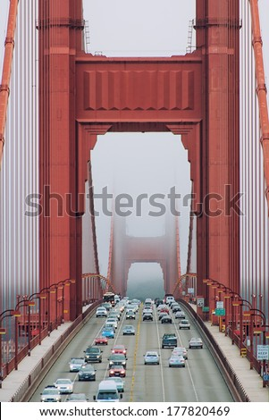 golden gate - stock photo