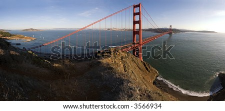 Golden Gate and Beach Pano, San Francisco, California