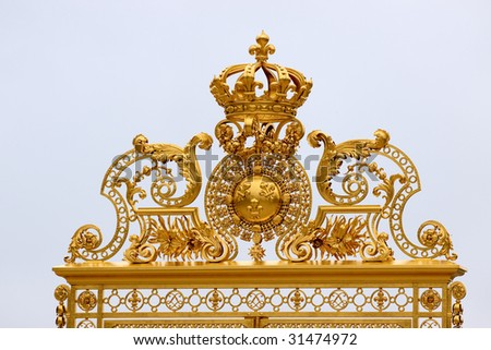Golden Gate at Palace Versaille, Paris - stock photo