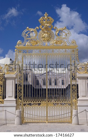 Golden Gate at Palace Versailles, Paris - stock photo