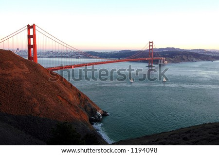 Golden Gate At Sunset - stock photo