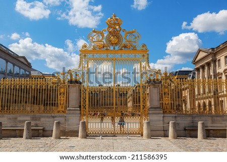 golden gate at the Palace of Versailles