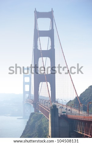 Golden Gate Bride an early morning - stock photo