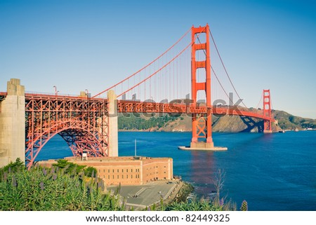 Golden Gate Bridge - stock photo
