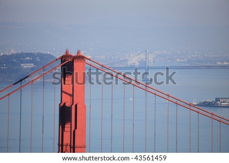 Golden Gate Bridge and Bay Bridge, San Francisco,CA, USA