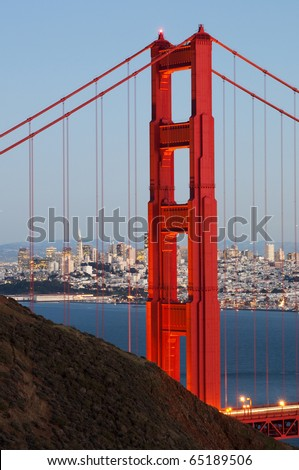 Golden Gate Bridge and San Francisco - stock photo