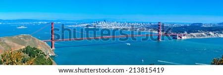 Golden Gate Bridge and The City of San Francisco - stock photo