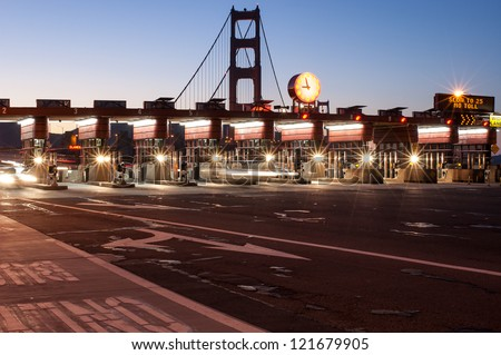 Golden Gate Bridge at night - San Francisco - stock photo