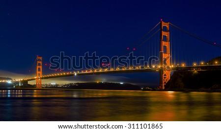 Golden Gate Bridge details in San Francisco California - stock photo
