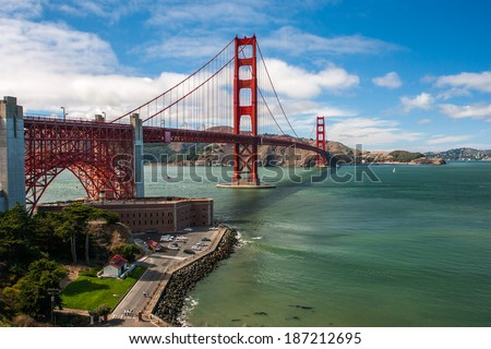 Golden Gate Bridge Fort - stock photo