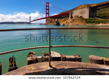 Golden Gate Bridge. Great view from the north side of the bridge.