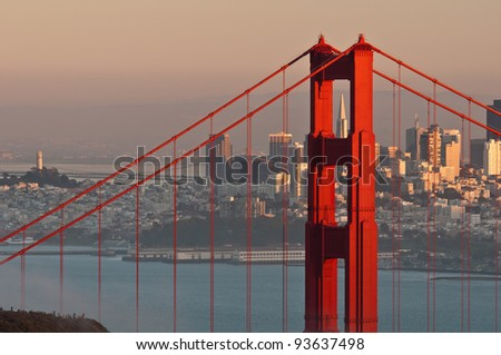 Golden Gate Bridge. Image of Golden Gate Bridge with San Francisco skyline in the background.