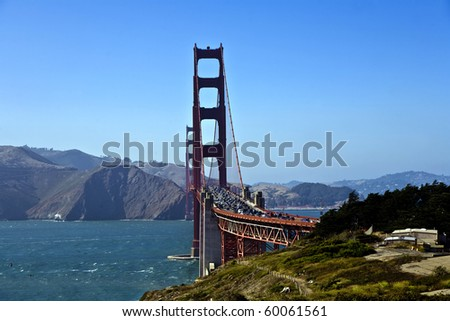 Golden Gate Bridge in San Francisco - stock photo