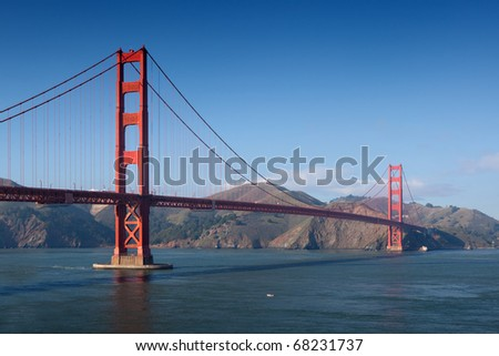 Golden Gate Bridge in San Francisco. - stock photo