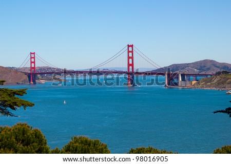 Golden Gate Bridge in San Francisco - stock photo