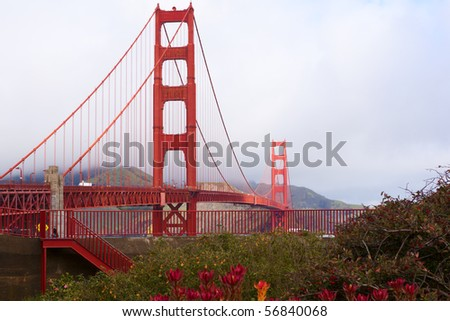 Golden Gate Bridge in San Francisco California. - stock photo