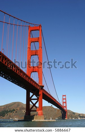 golden gate bridge in san francisco, california - stock photo