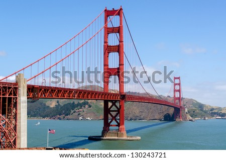 Golden Gate Bridge in San Francisco, California in United States of America - stock photo