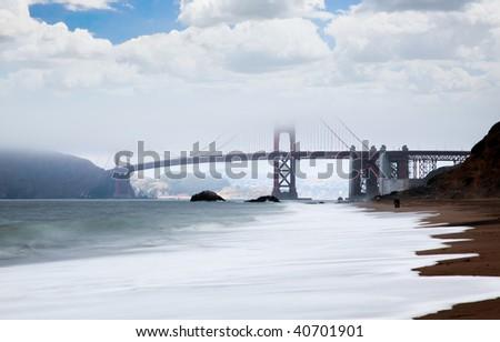 Golden Gate Bridge in San Francisco USA - stock photo