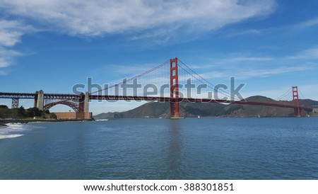 Golden Gate Bridge is one of the most famous landmarks of San Francisco and California. Mobile photo.