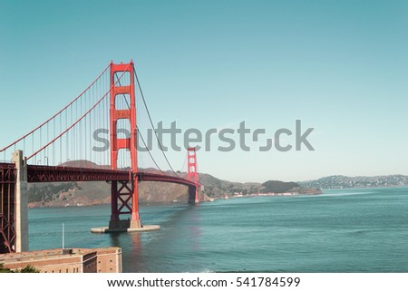 Golden Gate Bridge Landmark in San Francisco, California, USA