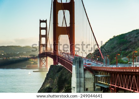 Golden Gate Bridge, Landmark of San Francisco - stock photo