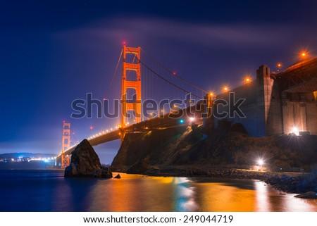 Golden Gate Bridge, Landmark of San Francisco - stock photo