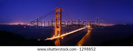 Golden Gate Bridge Panorama - stock photo