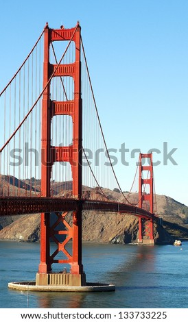 Golden Gate bridge. San Francisco - stock photo