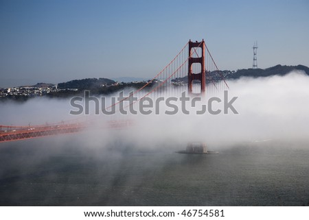 Golden Gate Bridge, San Francisco Bay and Skyline in background, California, USA