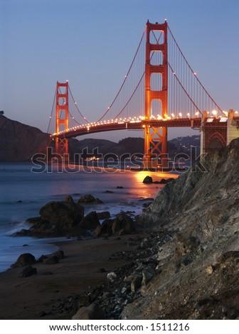 Golden Gate bridge, San-Francisco, CA, USA - stock photo