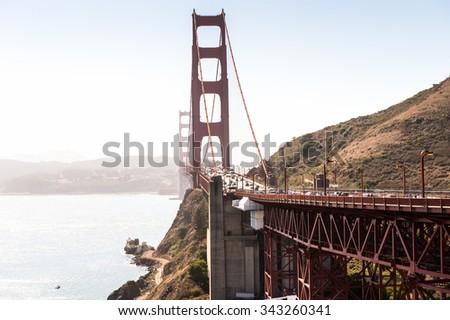 Golden Gate Bridge, San Francisco, California, United States of America - stock photo
