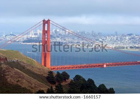 Golden Gate bridge, San Franscico Bay - stock photo