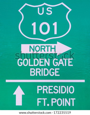 Golden Gate Bridge sign,San Francisco - stock photo