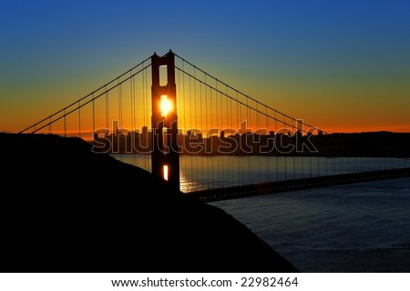 Golden Gate Bridge Sunrise