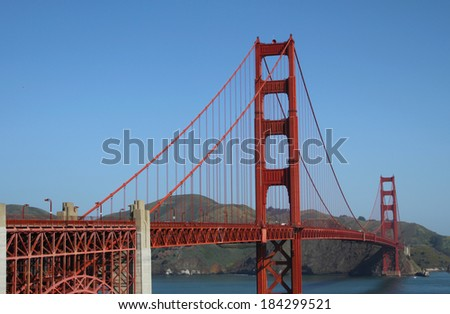 Golden gate bridge, the landmark of San-francisco
