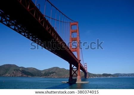 Golden Gate Bridge underneath view