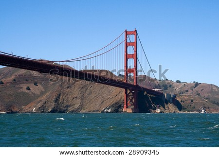 Golden Gate Bridge. view from the bay