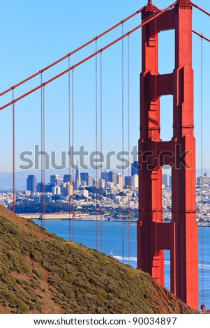 Golden Gate Bridge View on San Francisco, California - stock photo